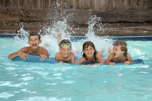 Grapevine's Summertime in Grapevine kids in pool.j
